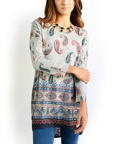 This Gray Paisley Dolman Tunic is perfect! #zulilyfinds