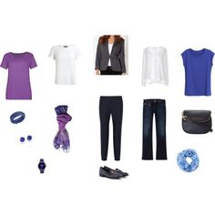 """Creating your wardrobe: Navy and white with accents"" by sue-walker on Polyvore"