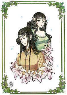 Элронд и Арвен  Elrond And Arwen by Setsunaika on DeviantArt