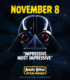 8 de noviembre Angry Birds Star Wars
