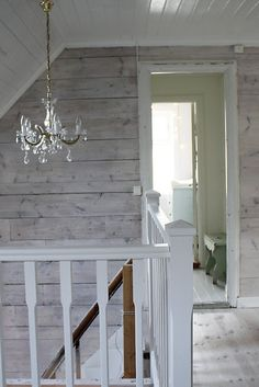 love the all white ceiling and trim with white washed walls