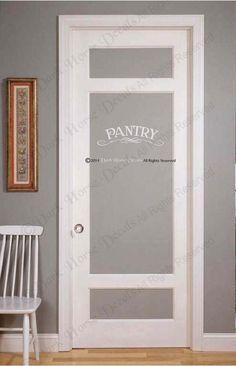 Vertical Pantry Door Sticker Decal With Embellishments