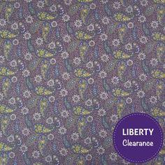 Liberty Tana Lawn Cotton Fabric Eternal Flame Navy 136cm - LIBERTY Tana Lawn Fabric - LIBERTY Art Fabrics - Fabric
