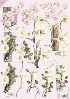 Mb0130 Vintage bloemen - Mattie de Bruine A4 - Knipvellen - Hobbynu.nl