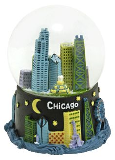 Chicago Nights and Days snow globe - find it @ snowdomes.com