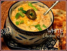 Slow Cooker White Chicken Chili!