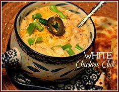 Slow Cooker White Chicken Chili!