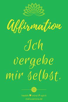 Sich selbst seine eignene gemachten Fehler oder blöde Gedanken zu vergeben ist sehr heilsam für sich selbst. Zu schnell jemanden verurteilt? WIder ein Vorhaben nicht umgesetzt oder geschafft? Vergib dir erst einmal selbst. Du bis okay und du bist nur ein Mesnche der Fehler machen darf <3 Sich selbst zu verzeigen ist Self-Care pure. #selfcare #selflove #verzeihen #vergebung #heilung #chakra #meditation #yoga #selbstliebe Think Positive Thoughts, Mental Training, Law Of Attraction, Affirmations, Mindfulness, Positivity, Chakra Meditation, Health, Yoga Teacher