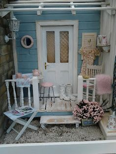 Frederica's Little World: My Summer Porch. Such charming details! What a perfect place for a spring afternoon!