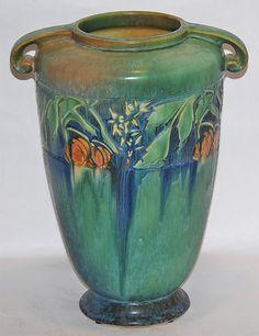Roseville Pottery Baneda Green Vase 599-12 from Just Art Pottery