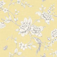 Gran Deco Ellis Yellow Wallpaper