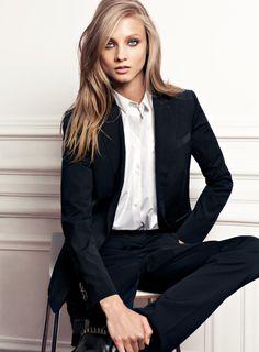Model Anna Selezneva, photographer uncredited for Mango, Fall 2012 catalogue #fashion #campaign