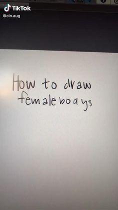 Body Tutorial, Body Drawing Tutorial, Art Drawings Sketches Simple, Pencil Art Drawings, Drawing Techniques, Drawing Tips, Digital Art Tutorial, Digital Painting Tutorials, Drawing Female Body