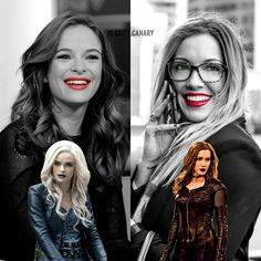 Danielle Panabaker and Katie Cassidy. Caitlin Snow and Laurel Lance. Killer Frost and Black Siren. The Flash and Arrow.