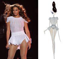 "mrs carter costumes   ... : Beyoncé Reveals More ""Mrs. Carter World Tour"" Costume Sketches"