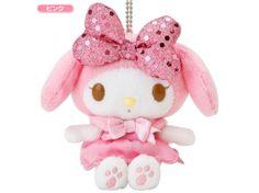 My Melody Plush Doll Mascot Chain Key Ring Ribbon Pink SANRIO JAPAN