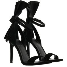 Kendall  Kylie Eve Sandals ($155) ❤ liked on Polyvore featuring shoes, sandals, black, kohl shoes, black shoes, kendall kylie shoes and black sandals