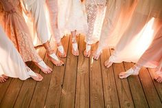 barefoot bridal party | Andrew Allen Morton #wedding | Southern ...