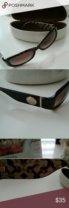coach sunglasses worn with few scratches on lenses but nothing that blocks vision at all Coach Accessories Glasses