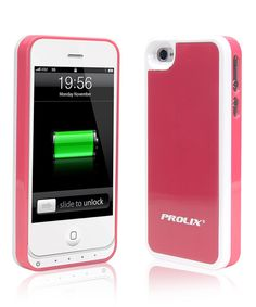 Look what I found on #zulily! White & Pink Protective Battery Case for iPhone 4/4s by Prolix USA #zulilyfinds