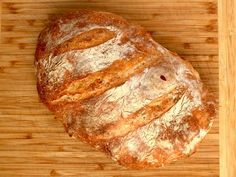 no knead cold fermented rustic bread baked in a dutch oven