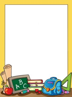 school clipart borders / school clipart & school clipart kids & school clipart teachers & school clipart free & school clipart clip art & school clipart classroom & school clipart black and white & school clipart borders Boarder Designs, Page Borders Design, Borders For Paper, Borders And Frames, School Border, 1st Day Of School, School Kids, Art School, School Frame