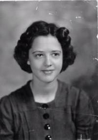Olive Davis as a young girl.