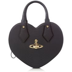 Vivienne Westwood Snake heart small bag (6.312.180 VND) ❤ liked on Polyvore featuring bags, handbags, black, women, heart shaped bag, snake bag, vivienne westwood handbags, snake handbags and vivienne westwood bags