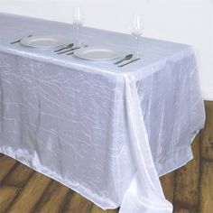 Create a welcoming party ambiance with efavormart's upscale Taffeta Crinkle Tablecloths, Table Covers, Table Runners, Chair Sashes, Chair Covers and more. Shop for our stunning Crinkle Taffeta Tablecloths at wholesale rates. Chair Covers, Table Covers, Chair Sashes, Wedding Linens, Patriotic Decorations, Wedding Decorations, Crinkles, Table Linens