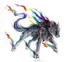 Black Rainbow Fire by Lucky978.deviantart.com on @deviantART