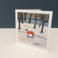 Image of Wintry Whippet Walk card