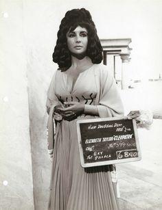 Elizabeth Taylor hair test for 'Cleopatra', 1963.