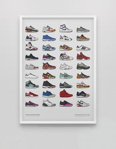 Image of Assorted Sneaker Print<br>