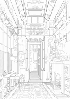 Sir John Soane's study room Dogma Architecture Collage, Architecture Drawings, Beautiful Architecture, Architecture Details, Rendering Architecture, Architecture Diagrams, Pattern Coloring Pages, Cute Coloring Pages, Cad Drawing