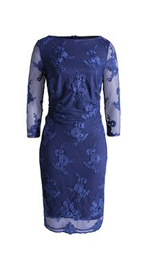 Esprit / Geborduurde mesh jurk