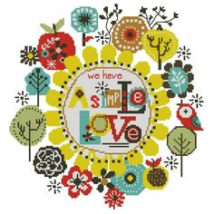 We Have a Simple Love Mini Cross Stitch PDF Chart by PinoyStitch