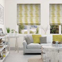 Reverie Spring Green Roman Blind from Blinds 2go