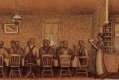 """The Thresher's Supper,"" Grant Wood, sketch study for Dinner for Thresher's Modern Prints, Modern Art, Social Realism, Grant Wood, Art Fund, Old Master, Public Art, American Artists, Sketch"
