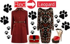 """Mix It Up With Red and Leopard Print"" by latoyacl ❤ liked on Polyvore"