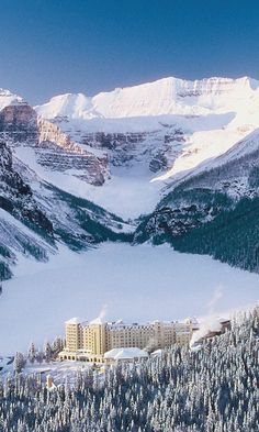 With 4,200 acres of skiable terrain, the Lake Louise Ski Resort is arguably one of the most scenic ski areas on earth//