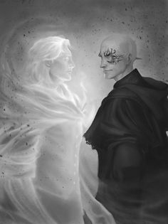Kelsier and Marsh ((this was made as a companion piece to this other one I drew. sort of a before and after shit hit the fan kind of thing)) *SPOILERS FOR MISTBORN: SECRET HISTORY* [[MORE]]the fact that kelsier got to be preservation when he is...