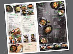 Basil Thai Kitchen - Design and layout of menu Thai Restaurant Menu, Carta Restaurant, Thai Food Menu, Restaurant Menu Design, Food Graphic Design, Food Menu Design, Menue Design, Food Catalog, Brochure Food