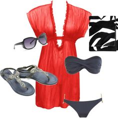 cute beach outfit! my-style