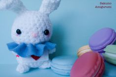 Bianconiglio - White Bunny- Alice in Wonderland - Kawaii Plush - Pupazzi - Morbido - Uncinetto - Crochet di SakumoAmigurumi su Etsy