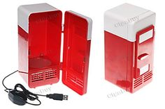 Red USB Mini Cooler& Warmer Fridge Refrigerator  http://www.cigabuy.com/ru/red-usb-mini-cooler-warmer-fridge-refrigerator-p-2808.html  Stylized as a mini fridge, looks cool on any desktop You can keep your beverage chilled and stay at your computer longer with this mini fridge by your side Powered by USB cable with a switch to change the two functions-heating and cooling, no batteries required It can reach 60~80℃ when heating( red) and 8~10℃ when cooling( yellow) With internal LED light
