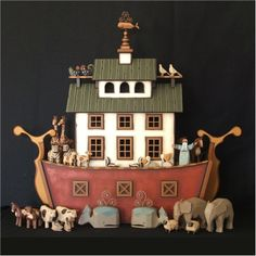 """Handmade wooden Noah's Ark """"The Nantucket Ark"""" – Toys Ideas Arts And Crafts Furniture, Arts And Crafts House, Arts And Crafts Supplies, Kids Furniture, Nantucket, Sand Crafts, Paper Crafts, All You Need Is, Ohio"""