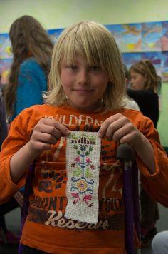 Waldorf ~ 4th grade ~ Handwork ~ Cross Stitch ~ project