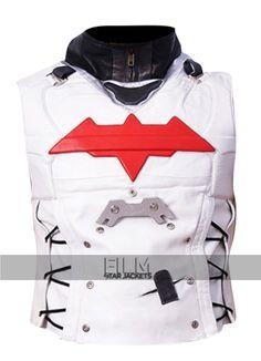Batman Arkham Knight Red Hood White Vest