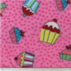 FLC- Cupcakes Fleece Fabric   Shop Hobby Lobby