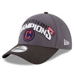 bc8211294b67c Cleveland Indians New Era 2017 AL Central Division Champions 9FORTY  Adjustable Hat – Graphite. Fanatics. Cleveland IndiansDodgers De ...